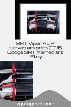 SRT Viper ACR canvas art print, 2015 Dodge SRT framed art, American supercar, Garage art decor, Viper art print, car art Viper Acr, Dodge Srt, Garage Art, Striped Canvas, Car Painting, Supercar, Canvas Art Prints, Framed Art, Art Decor