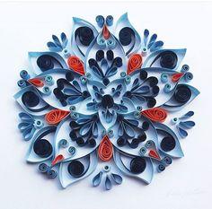 Blue mandala by Martin s