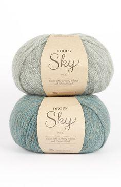 DROPS Sky - Molto morbida e leggera in baby alpaca e lana merino Crochet Yarn, Knitting Yarn, Nepal, Laine Drops, Slime Toy, Macrame Supplies, Yarn Wall Hanging, Yarn Store, Wool Yarn