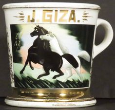 Occupational Shaving Mug for Horse Trainer : Lot 1040