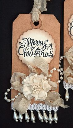 Christmas Tags Vintage Inspired Decor for Presents, Baked Goods, Wine etc.