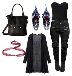 A fashion look from November 2016 featuring plus size long tops, corset crop top and zipper fly jeans. Browse and shop related looks. Vampire Look, Miss Selfridge, Shoe Bag, Polyvore, Stuff To Buy, Shopping, Collection, Shoes, Design