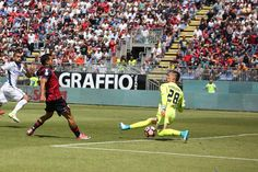 Cagliari vandt med 3-2 over Empoli, der nu kun er 1 point over nedrykningstregen. Skidt for toscanerne, der ellers fik lidt håb ved 2-3 scoringen ved Maccarone.