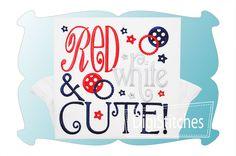 Red White and Cute Applique - DigiStitches Machine Embroidery Designs