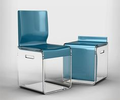 Ooooh!! So awesome if treatment room space is limited here is patients chair and yours in one!
