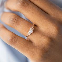 Diamond Snowdrift Ring   Handcrafted Engagement Ring