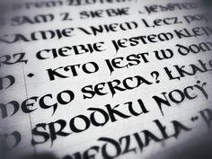 #calligraphy #half uncial #artificial uncial  More practice. Rumi's poems in Polish written in artificial uncial. AgaWęgrowska