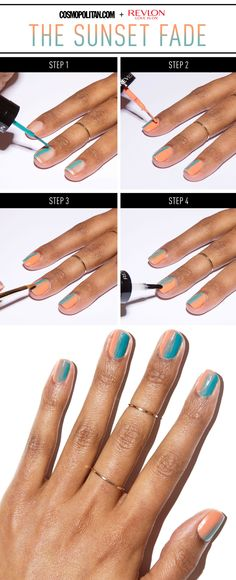 The Easiest Nail Art You'll Try This Summer - Prepare to be obsessed.