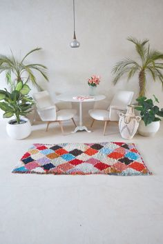 boucherouite – Page 2 Examples Of Modern Art, Empty Canvas, Pink Rug, Decoration, Rug Runner, Moroccan, Modern Design, Vintage Items, Weaving