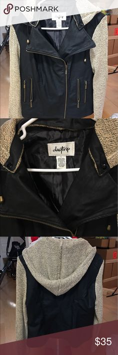 Daytrip Pleather Jacket Women's Daytrip Pleather Jacket. Size large. Never been worn in great condition Daytrip Jackets & Coats