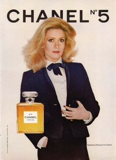 Catherine Deneuve for the body creme and perfume Chanel Number 5. Photographed by Richard Avedon in 1975