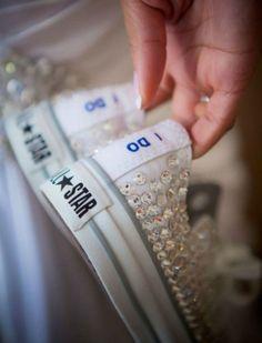 www.weddbook.com everything about wedding ♥ Wedding chucks #weddbook #wedding #shoes #bride #photo