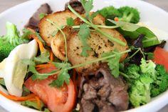 Chopped vegetable and steak salad at Banh Mi, Charleston, SC.