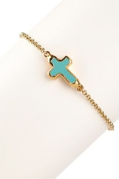cross bracelet...I want this, but in silver....