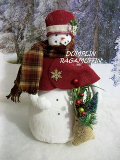 PATTERN Primitive holiday Snow lady home decor Christmas Christmas Tree Toppers, Christmas Snowman, Christmas Angels, Christmas Holidays, Christmas Wreaths, Christmas Crafts, Christmas Ornaments, Christmas Ideas, Snowman Ornaments