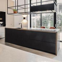 Woodmark - Steel Kitchen Rack Hanover - Custom Steel - Lilly is Love Kitchen On A Budget, Home Decor Kitchen, Kitchen Living, New Kitchen, Home Kitchens, Minimal Kitchen Design, Interior Design Kitchen, Moraira, Home Bar Designs