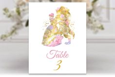 Beauty and The beast Wedding Table Numbers SET of 10 Prints Disney Wedding Table wedding decor sign card table bridal decor Summer wedding