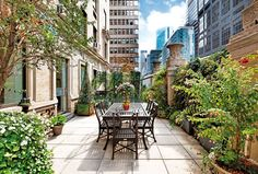 In einem der elegantesten Gebäude von New York an einer der teuersten Wohnstraßen der Welt gelegen, bietet diese grüne Oase ein unvergleichlich idyllisches Refugium. Die exklusive Lage bietet gleichzeitig faszinierende Ausblicke auf die umliegenden New Yorker Metropollandschaft.