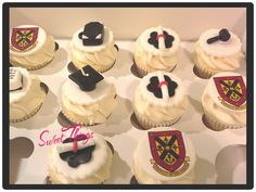 Law school graduation cupcakes sweetthingsbywendy.ca Graduate School, Law School, Graduation Cupcake Toppers, Cupcake Cakes, Sweet, Desserts, Diy, Food, Candy