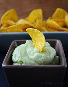 1 avocado   ⅓ cup cream cheese or Greek yogurt   ⅓ cup mayonnaise   2 tablespoons lemon or lime juice   a splash or tabasco or jalapeno sauce   salt and freshly ground black pepper     Place the avocado, cream cheese, mayonnaise, lime juice and tabasco into a blender. Blend until you have a smooth paste, about 1 minute. Salt & black pepper, to taste.  Serve as a dip for tortilla chips or cut up veggies.