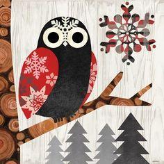 Norwegian Wood-Owl by Jennifer Brinley | Ruth Levison Design