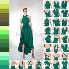 HIGH-LOW infinity dress in GREENS Free-Style by toFREEyourSTYLE