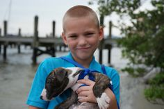 Know My Town photography;  a boy and his puppy