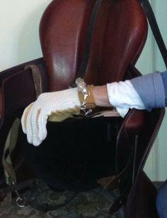 sterling dramatic horse cuff