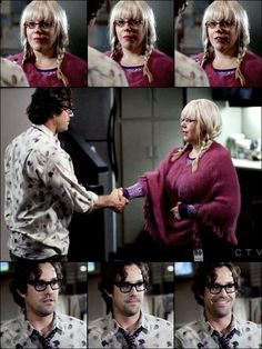 Penelope Garcia and her soon-to-be boyfriend...she says, 'you are good' and he says, 'you are better' (when they first meet)