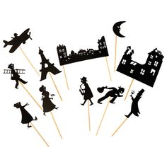 Paris-themed Shadow Puppets