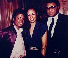 With Muhammad and Veronica Porsche Ali.