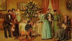 §§§ : Die Familie am Christbaum : J. Staubs Bilderbuch : 1905