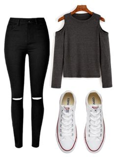 """Outfit #3"" by cortez-brendaa on Polyvore featuring Converse"