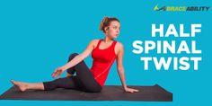 Half Spinal Twist Stretch for Sciatica Nerve Pain