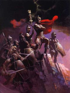 Frank Frazetta Frank Frazetta Seven Romans painting for sale paypal payment, painting