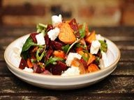 Beatroot, Sweet Potato and Spinach Salad Recipe