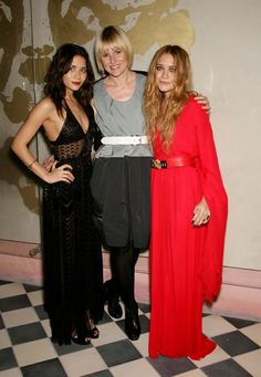 Ashley in Calvin Klein, Mary-Kate in Halston