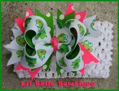 hair bows for girls   Lil Belle Bowtique- Boutique Girls Hair Bows and Accessories: February ...