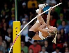 Mary Saxer in the women's pole vault at the Olympic trials.