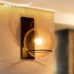 Стиле лофт прозрачное стекло стены черный металл стеклянный шар настенный светильник спальня света столовая бесплатная доставка
