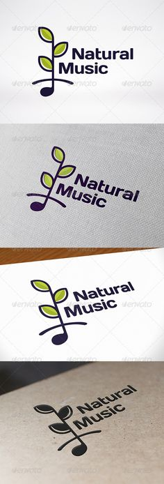 Nature Music Logo Template — Vector EPS #nature #music note • Available here → https://graphicriver.net/item/nature-music-logo-template/7548575?ref=pxcr