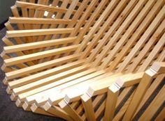 Flat Pack Solid Bamboo Chair Design