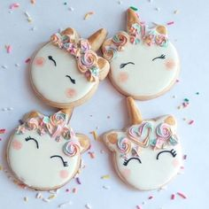 Unicorn Sugar Cookies for Unicorn Birthday Party