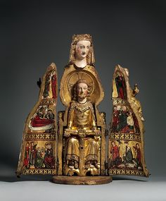 """Shrine of the Virgin"" ca 1300. Moyen Age Tardif Oak, linen covering, polycrhromy, gilt. Gift of J. Pierpont Morgan 1917"