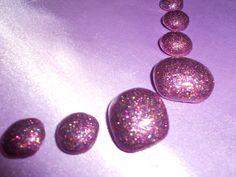 Handmade Order Reusable Press on Toenails Bubble Toes Nailhur Kiss Glue Dots Easy On Easy Off False Fake Nails Glitter Purple Lavender by Pressontoenails on Etsy