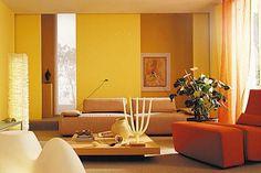 """Mit dem kräftigen Orange """"Mango"""" und dem sonnigen Gelb """"Honey"""" kommen Licht und Frische in den Raum. Kombiniert oder als Solisten bringen die freundlichen..."""
