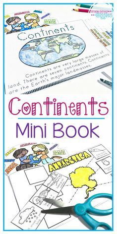 Finding teaching ideas, planning the lesson, and prepping activities can take up a lot of time. If you want an awesome printables to teach about the seven continents and the five world oceans, you need to check out this printable booklet. There's even a craft project and cut outs of each continent included. It's just right for kids.