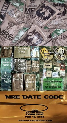 MRE - Food for your bug out bag or emergency supplies #Prepper