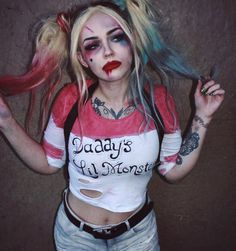 """jordi on Instagram: """"here's what i wore with my #harleyquinn face. i put it…"""