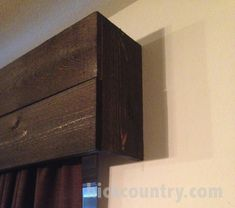 Love the simplicity of this wood valance!